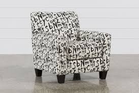 Grey And White Accent Chair Brindon Graffiti Accent Chair Living Spaces