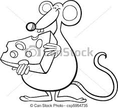 clipart vector mouse cheese coloring book