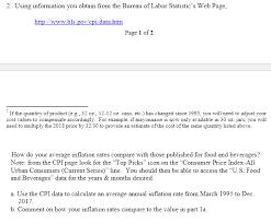 us bureau of labor statistics cpi 2 information you obtain from the bureau of chegg com