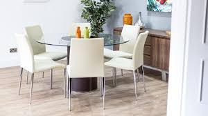 Round Black Dining Room Table Chair Glamorous Chair Glass Dining Table White Chairs Gallery 6