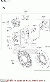 suzuki rm z250 2006 k6 usa e03 rmz250 rm z250 front brake