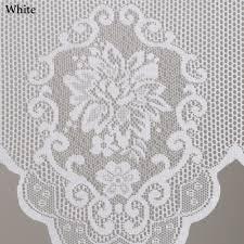 Black And White Valance Fairmount Lace Swag Window Valance Pair