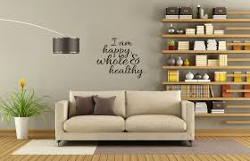 happy healthy u0026 whole wall decal wellness inspirational quotes gym