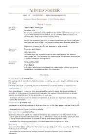 Software Architect Resume Examples by Senior Web Developer Resume Ilivearticles Info