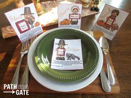 printable thanksgiving place holders path through the narrow gate