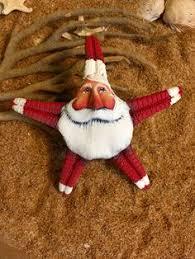 sanddollar painted santa ornament santa ornaments ornament