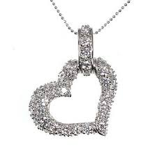 cubic zirconia heart necklace images Gemstone jewelry beautiful silver jewelry 34 stone cubic jpg