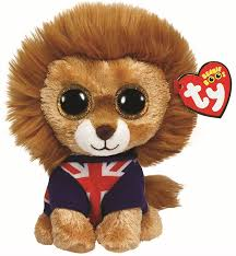 ty beanie boo plush lion hero union jack amazon uk toys u0026 games