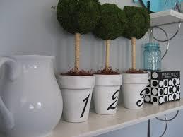 Mantel Topiaries - making new pots old and diy topiaries u2013 at number 10