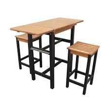 eucalyptus wood dining table merry products drop leaf eucalyptus wood dining table and barstool set