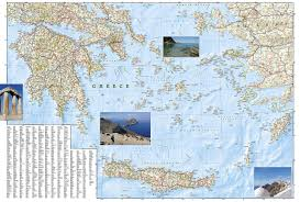Delphi Greece Map by Greece National Geographic Adventure Map National Geographic