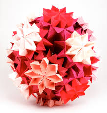 Different Shades Of Red Bead Origami Origami Interlude Kusudama