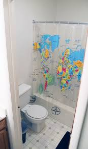 Shower Curtain World Map The World In Our Bathroom