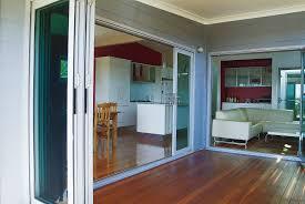 Bifold Exterior Doors Prices by Consatina Doors U0026 Timber Frame Of Extension With Concertina Doors