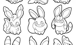 pokemon eevee coloring outline images pokemon images