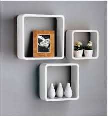 White Floating Wall Shelves by Wall Mount Shelf Ideas Good Small Wall Mounted Shelves 47 With