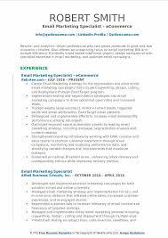 email marketing specialist resume samples qwikresume