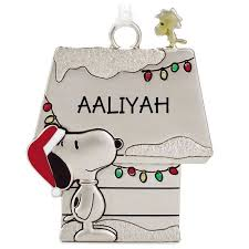 peanuts snoopy and woodstock metal name ornament aaliyah