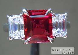 red emerald rings images Natural ruby emerald cut ruby ruby ring jpg