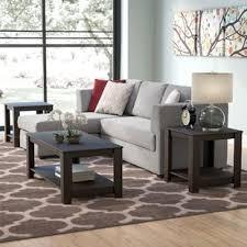 brown coffee table set coffee table sets you ll love wayfair