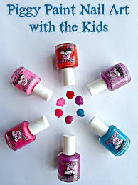 piggy paint nail art with the kids living a sunshine life