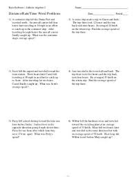 speed distance time worksheets free worksheets library download