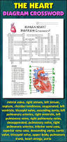 heart crossword with diagram editable student learning