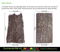 artificial bark sheets commercial silk int l