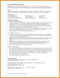 Employment History Example 6 Example Of Resume Skills Mailroom Clerk