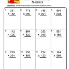 multiplication 2 digit by 3 digit multiplication free math