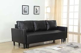 Quality Sleeper Sofas Large Black Leather Modern Contemporary Quality Sleeper Sofa Futon