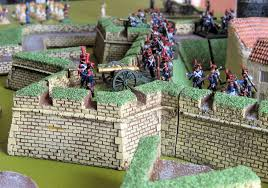vintage wargaming napoleonic siege wargame play test french