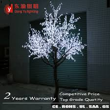 indoor led artificial plant tree white cherry blossom lighted