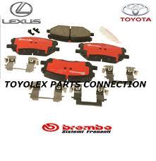 lexus rx350 brake pads lexus rx330 rx350 rx400h factory brembo front brake pads w clips
