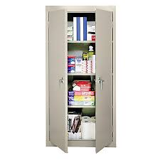 Steel Storage Cabinets Sandusky 30 Steel Storage Cabinet With 3 Fixed Shelves Putty By