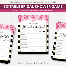 he said she said game questions bridal hens party editable