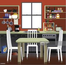 cartoon representation of a kitchen vector art getty images