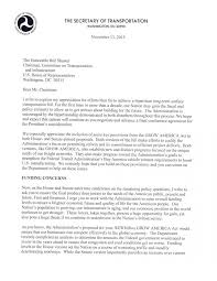 Residency Letter Of Recommendation Template by Patriotexpressus Mesmerizing Letter From Transportation Secretary