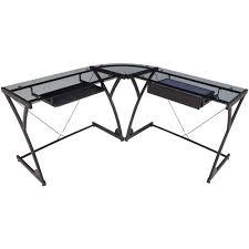 Black Glass L Shaped Desk L Shaped Desk Black Quaqua Me
