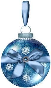 large transparent blue ornament png clipart