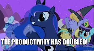 Mlp Luna Meme - the productivity has doubled princess luna doubled quickmeme