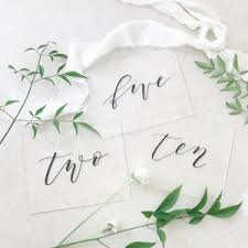acrylic table numbers wedding table numbers aisle society