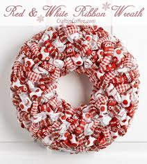 styrofoam wreath how to make a ribbon loop christmas wreath crafts n coffee