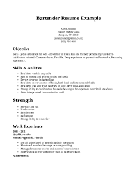 bartender resume samples download free templates in pdf and word