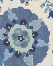suzani bold floral modern tribal fun textured linen fabric drapery
