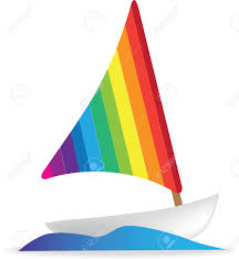 simple illustration of a sailing boat or yacht royalty free
