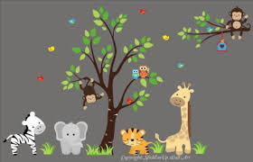 Jungle Wall Decal For Nursery Animal Decal Nursery Baby Room Jungle Wall Decals Top Room