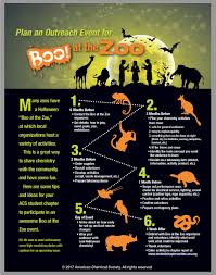 plan an outreach event for boo at the zoo inchemistry