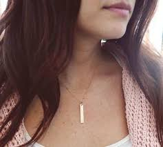 gold name bar necklace vertical bar necklace sted personalized jessicandesigns