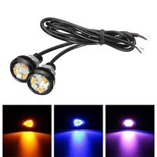 led lights for motorcycle for sale pair car motorcycle led dual color eagle eye led daytime running drl